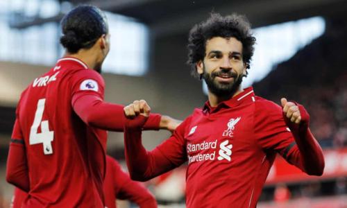 Salah ghi bàn thắng ấn định tỷ số cho Liverpool. Ảnh: Reuters