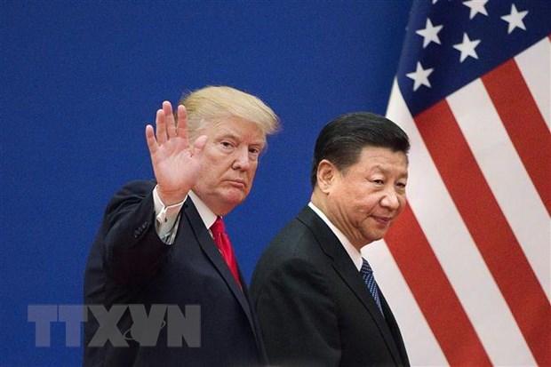 Tổng thống Mỹ Donald Trump (trái) trong cuộc gặp Chủ tịch Trung Quốc Tập Cận Bình tại Bắc Kinh ngày 9-11-2017. Ảnh: AFP/TTXVN