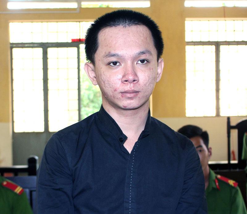 Bị cáo Tiêu Nguyên Hiền tại phiên tòa hình sự sơ thẩm ngày 12-4-2019.