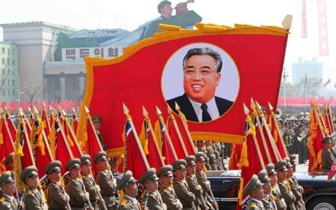 Hình ảnh cố lãnh tụ Triều Tiên Kim Nhật Thành. Ảnh: Tân Hoa xã.