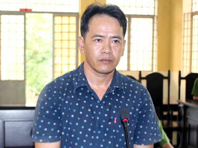 Bị cáo Lê Thanh Truyền tại phiên tòa hình sự sơ thẩm ngày 18-4-2019.