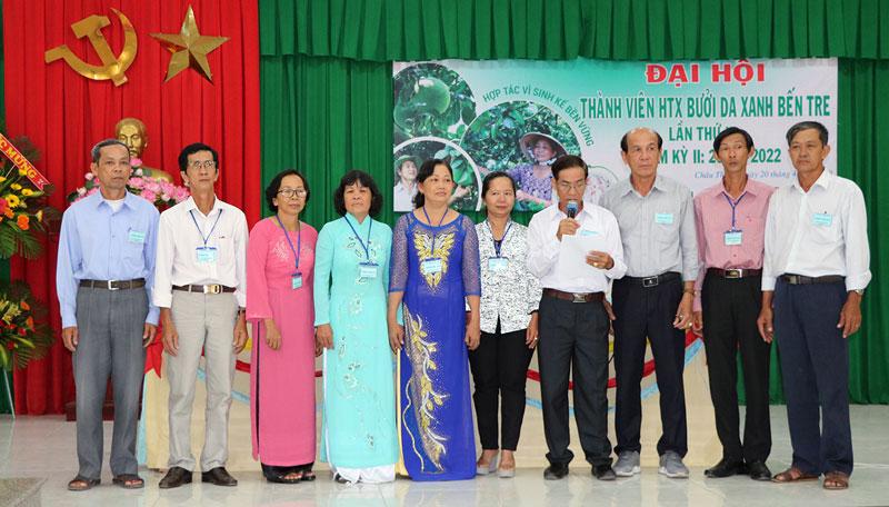 Hội đồng quản trị, ban kiểm soát ra mắt tại đại hội.