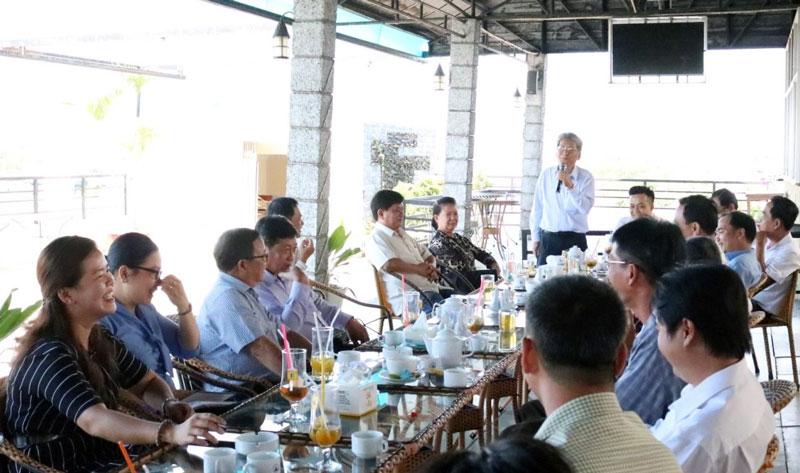 Chủ tịch UBND TP. Bến Tre Cao Thành Hiếu phát biểu.
