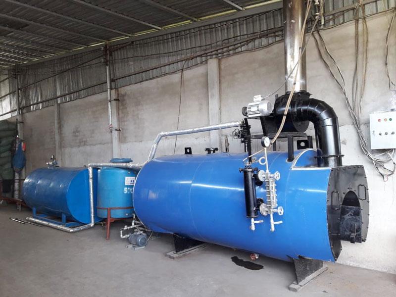 Hệ thống cấp hơi và gia nhiệt sản phẩm.