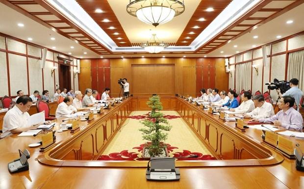 Toàn cảnh phiên họp của Bộ Chính trị. Ảnh: TTXVN
