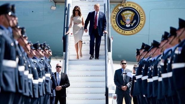 Hơn 10.000 cảnh sát sẽ được huy động bảo vệ Tổng thống Donald Trump trong chuyến thăm Anh. Nguồn: BBC