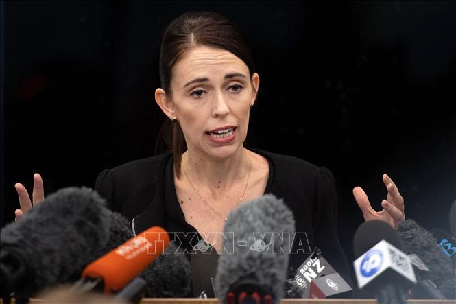 Thủ tướng New Zealand Jacinda Ardern phát biểu tại thành phố Christchurch ngày 20-3-2019. Ảnh: AFP/TTXVN