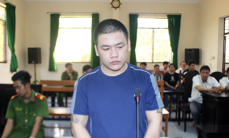 Bị cáo Nguyễn Thanh Phương tại phiên tòa hình sự sơ thẩm ngày 10-6-2019.