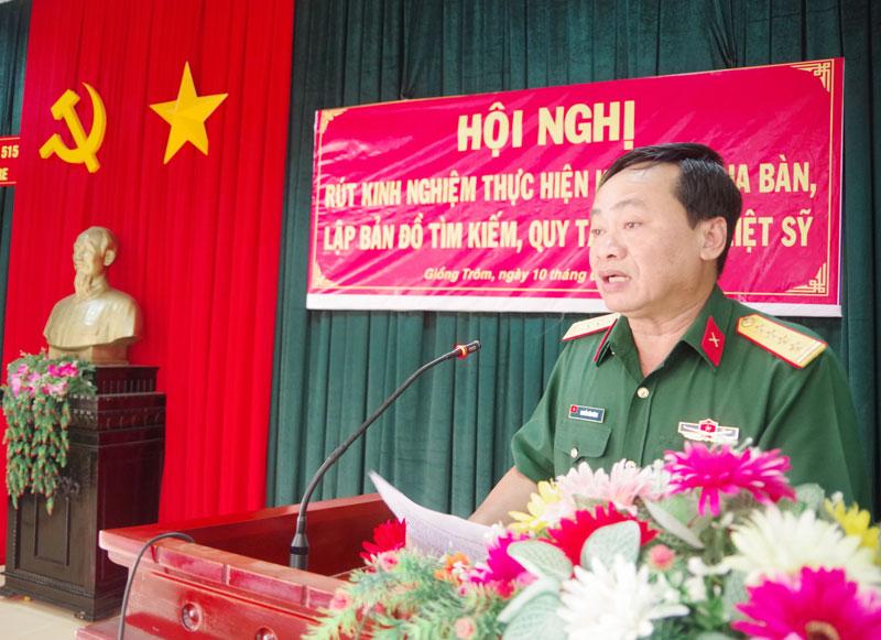 Đại tá Nguyễn Văn Dũng, phát biểu chỉ đạo tại hội nghị.