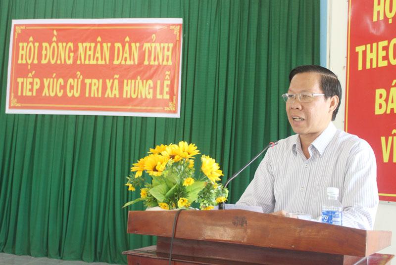Phó bí thư Thường trực Tỉnh ủy Phan Văn Mãi giải trình các kiến nghị của cử tri