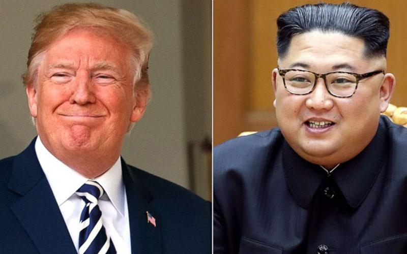 Các nhà lãnh đạo Trump và Kim. Ảnh: ABC News.