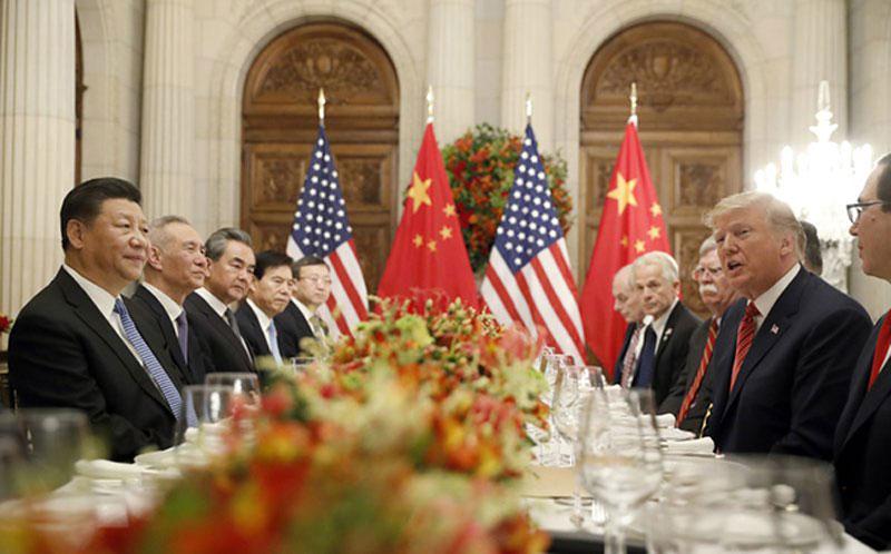 Chủ tịch Tập Cận Bình và Tổng thống Trump trong cuộc gặp tháng 12-2018. Ảnh: AP