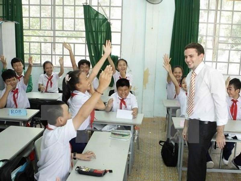 Người nước ngoài dạy học tại Việt Nam. (Nguồn: TTXVN)