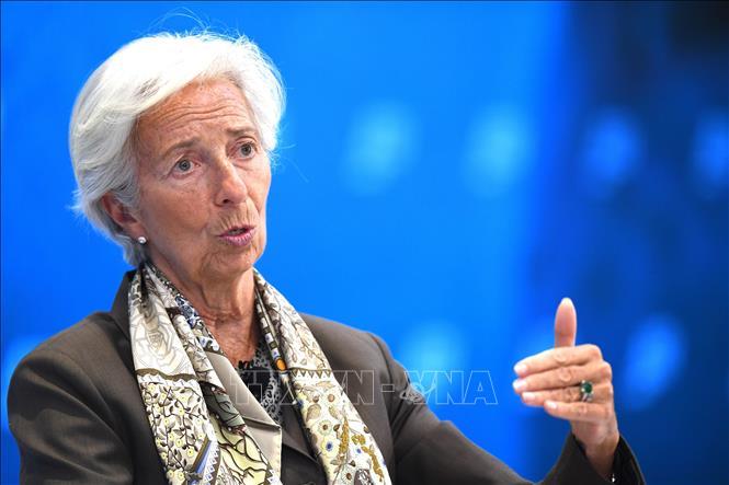 Tổng Giám đốc IMF Christine Lagarde phát biểu tại Washington, DC, Mỹ, ngày 5-6-2019. Ảnh: AFP/TTXVN