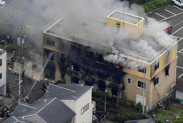 Hiện trường vụ cháy. Ảnh: Reuters