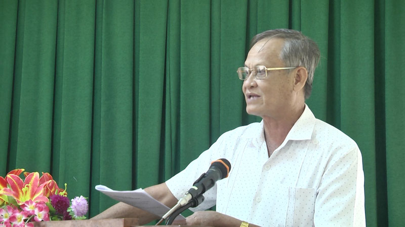 Chủ nhiệm Ủy ban kiểm tra Tỉnh ủy Trần Thanh Vũ phát biểu chỉ đạo tại hội nghị.