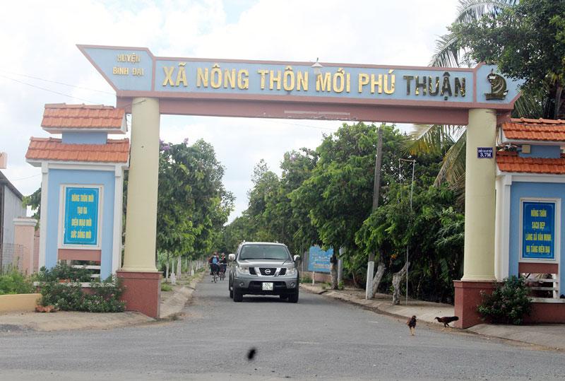 Xã nông thôn mới Phú Thuận.