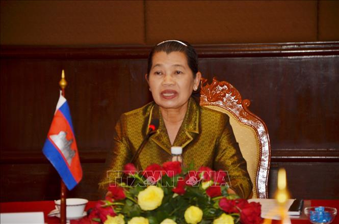 Phó thủ tướng Campuchia Men Sam An. Ảnh: Minh Hưng/TTXVN