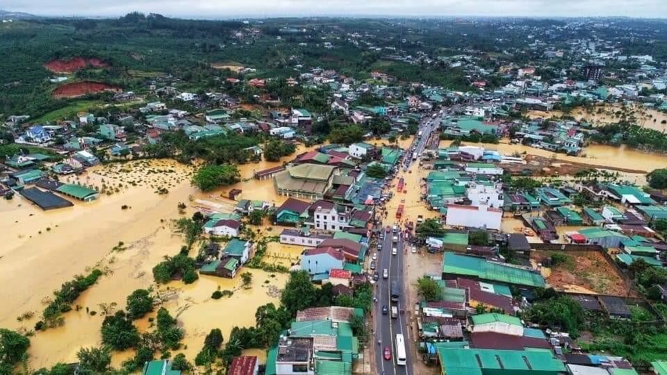 Bảo Lộc (Lâm Đồng) bị ngập nặng nề do lũ ngày 9-8-2019. Nguồn: baolamdong.vn