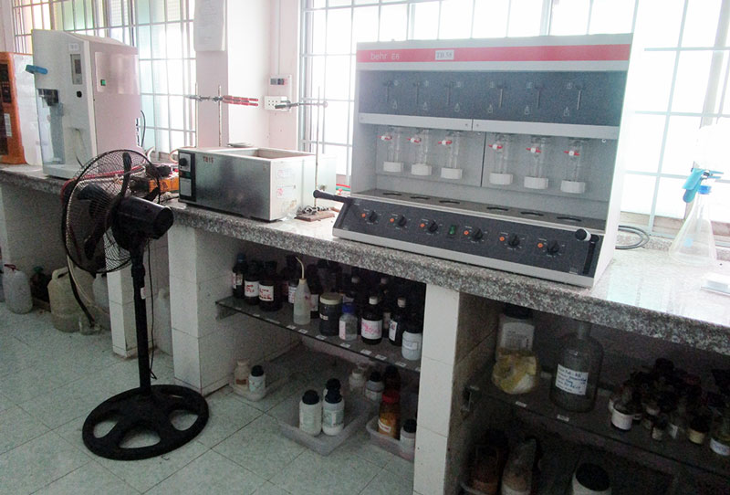 Trang thiết bị của phòng thử nghiệm.