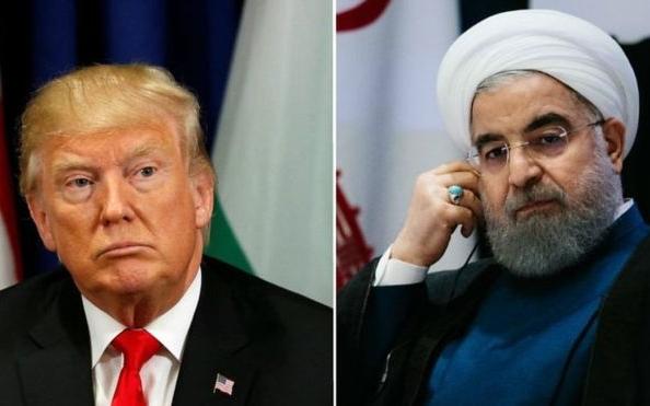 Lãnh đạo Mỹ Trump và Iran Rouhani. Ảnh: BBC.