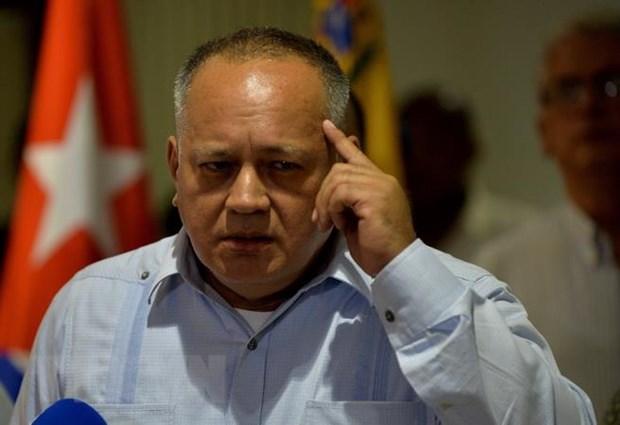 Phó Chủ tịch thứ nhất đảng Xã hội Chủ nghĩa thống nhất Venezuela (PSUV) Diosdado Cabello. (Ảnh: AFP/TTXVN)