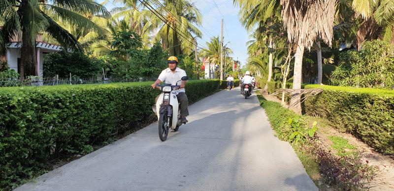 Đường nông thôn được đưa vào sử dụng trên địa bàn huyện Thạnh Phú