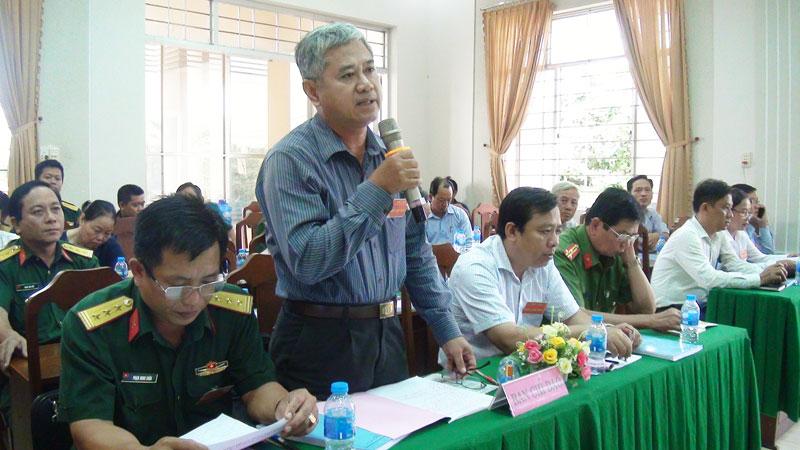 Bí thư Thành ủy Nguyễn Văn Đức kết luận buổi diễn tập