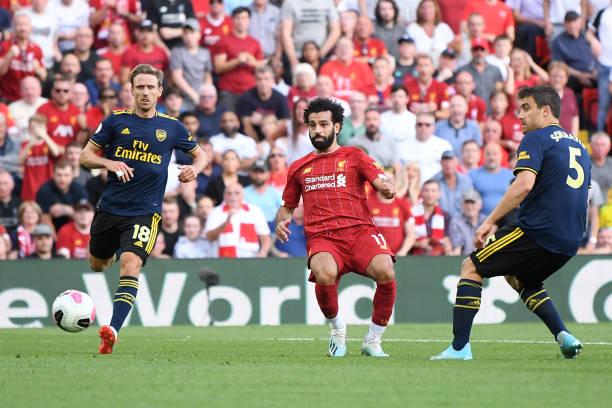 Salah đóng góp cú đúp giúp Liverpool nhấn chìm Arsenal. Ảnh: Getty Images