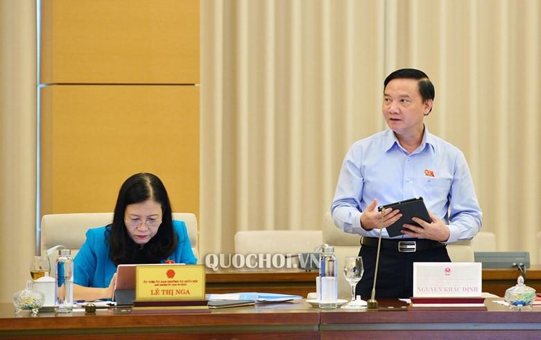 Chủ nhiệm Uỷ ban Pháp luật Nguyễn Khắc Định. Ảnh:Quochoi.vn