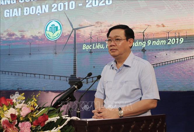 Phó Thủ tướng Vương Đình Huệ phát biểu chỉ đạo.