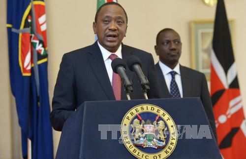 Tổng thống Kenya Uhuru Kenyatta. Ảnh: AFP/TTXVN