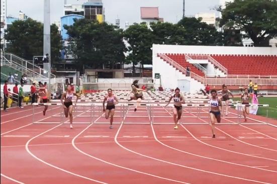 Nội dung chạy 110m rào nữ tại Giải điền kinh Vô địch quốc gia 2019