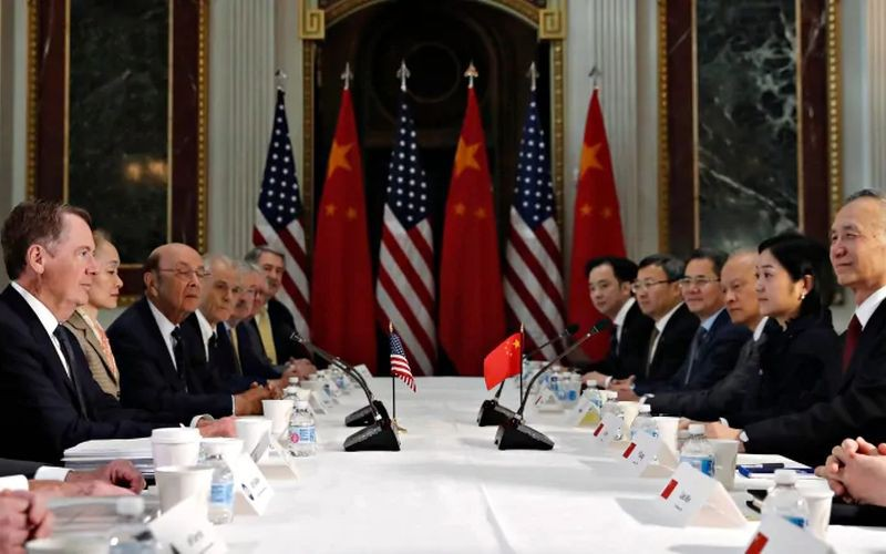 Đại diện Mỹ-Trung tại một cuộc đàm phán thương mại. Ảnh: Reuters