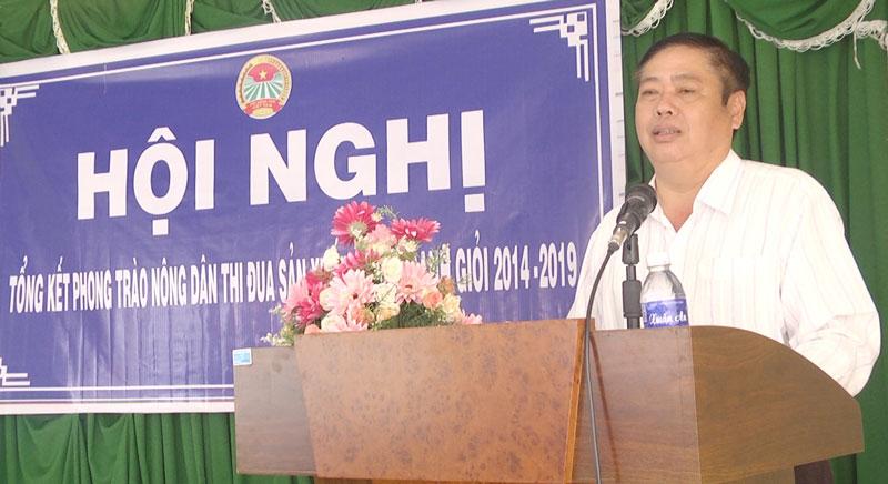 Chủ tịch HND tỉnh Lao Văn Trường phát biểu tại hội nghị.