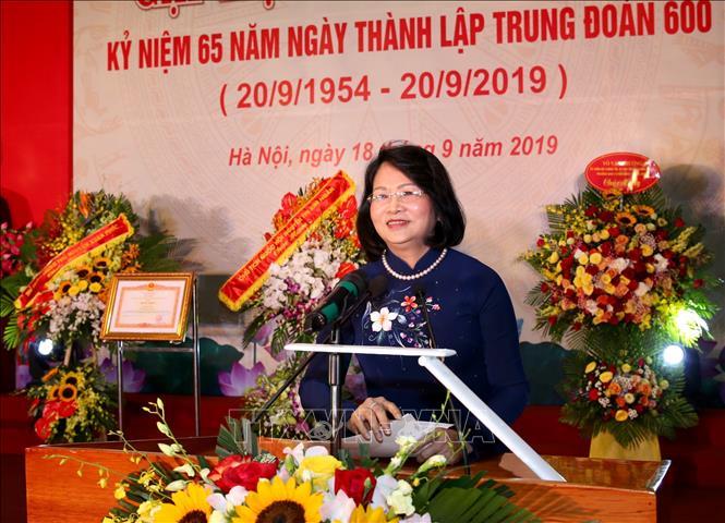Phó Chủ tịch nước Đặng Thị Ngọc Thịnh phát biểu chào mừng. Ảnh: Dương Giang/TTXVN