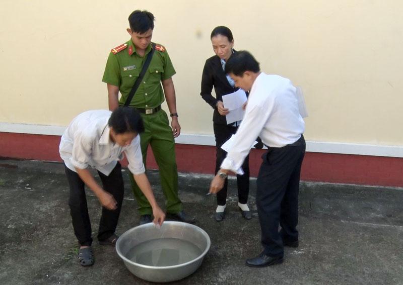 Tiêu hủy 4,678 gam ma túy do Bùi Trần Quang tàng trữ trái phép.