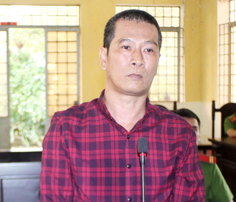 Bị cáo Đoàn Tuấn Kiệt tại phiên toàn hình sự sơ thẩm ngày 26-9-2019.
