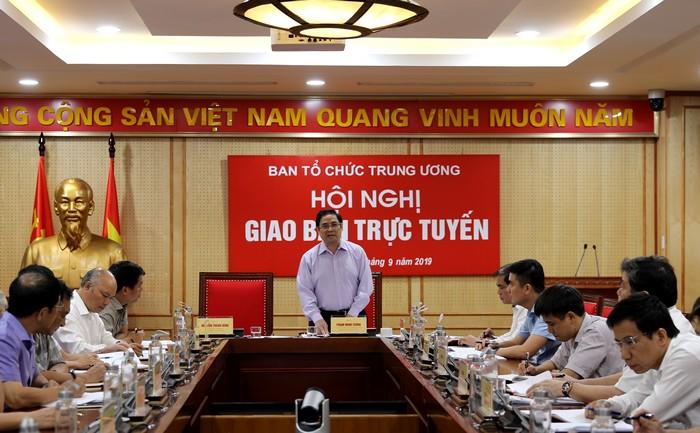 Đồng chí Phạm Minh Chính phát biểu tại Hội nghị. Ảnh: Hiền Hòa