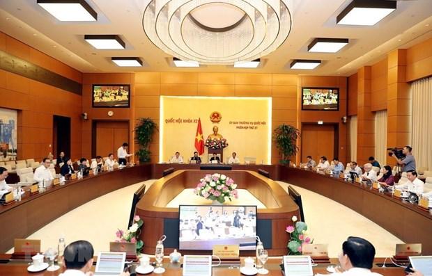 Phiên họp thứ 37 của Ủy ban Thường vụ Quốc hội. Nguồn: TTXVN