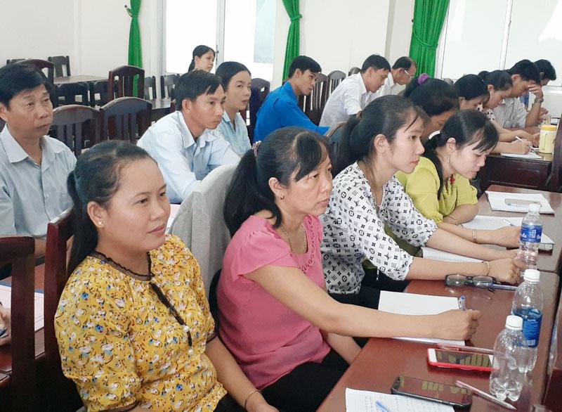 Học viên tham dự lớp bồi dưỡng.