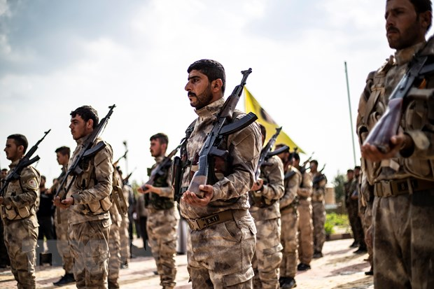 Thành viên của Các lực lượng Dân chủ Syria (SDF) tại Deir Ezzor, Syria, ngày 10-4-2019. Nguồn: AFP/TTXVN