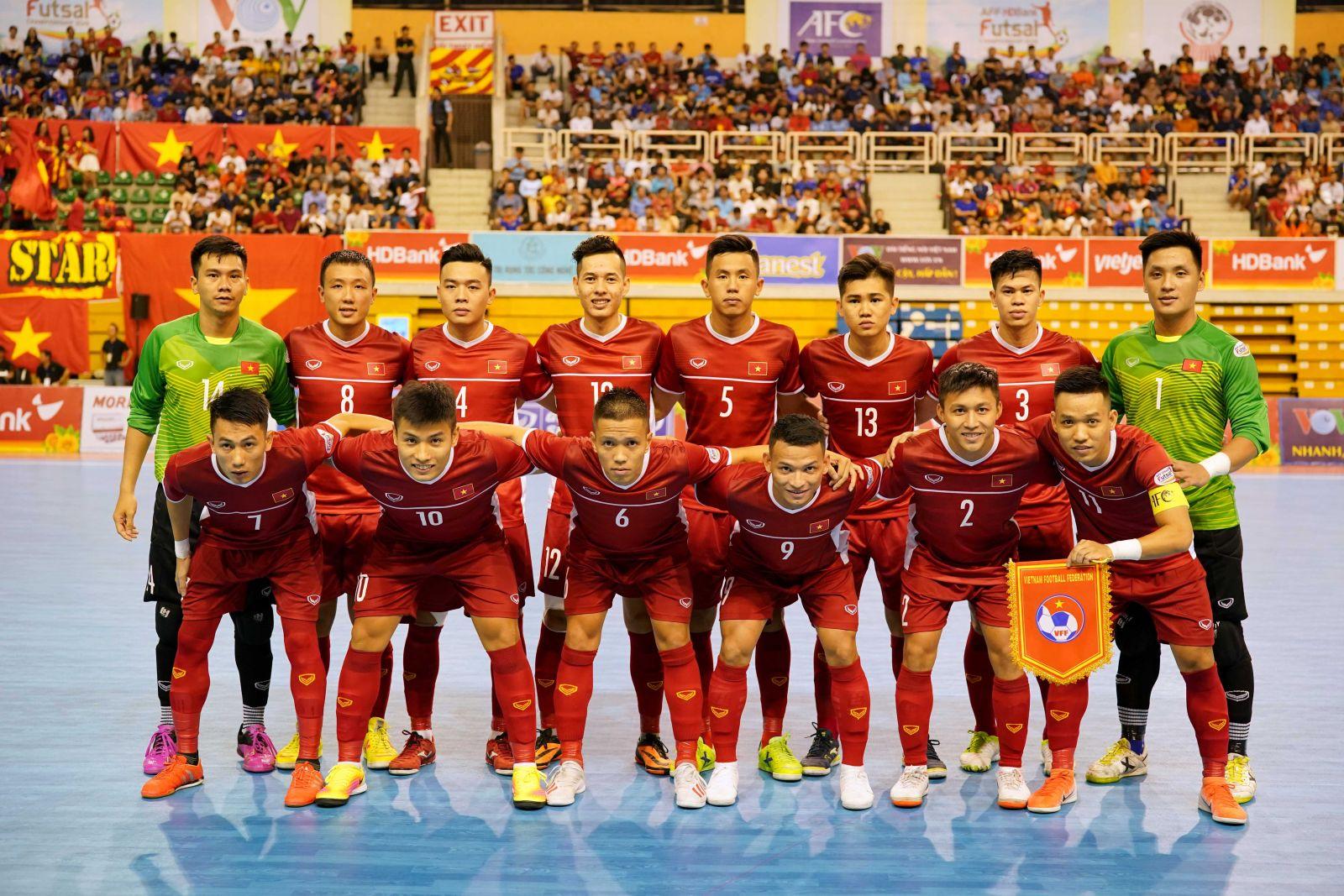 Futsal Việt Nam bắt đầu chiến dịch săn vàng giải Futsal Đông Nam Á 2019. Ảnh: VFF