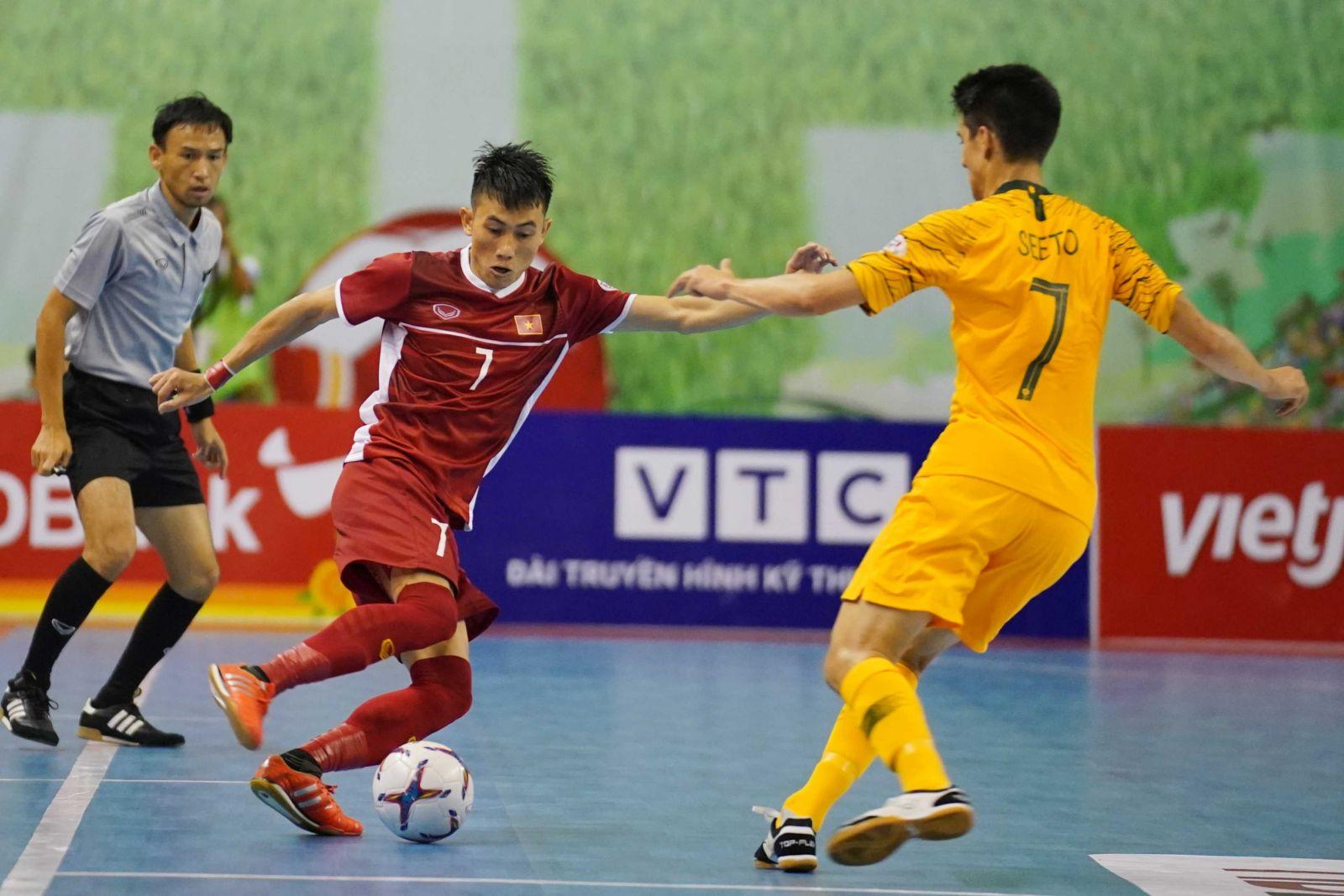 ĐT Futsal Việt Nam đã có trận đấu xuất sắc trước Australia. Ảnh: VFF