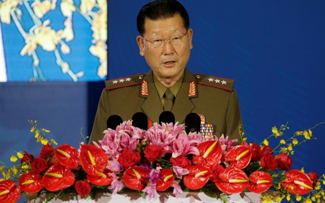 Thứ trưởng Triều Tiên Kim Hyong Ryong. Ảnh: Reuters