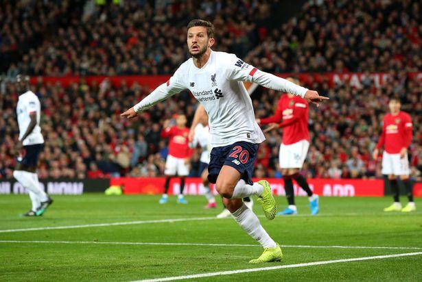 Lallana đã ghi bàn giúp Liverpool tránh khỏi thất bại trước MU ở Ngoại hạng Anh