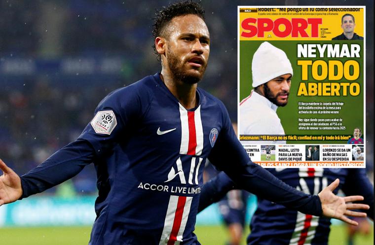 Barca vẫn chưa từ bỏ hy vọng mua lại Neymar từ PSG