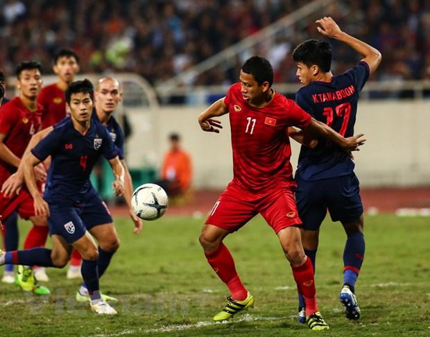 Tiền đạo Anh Đức trong trận đấu cuối với tuyển Việt Nam đối đầu Thái Lan tối 19-11 tại Mỹ Đình.