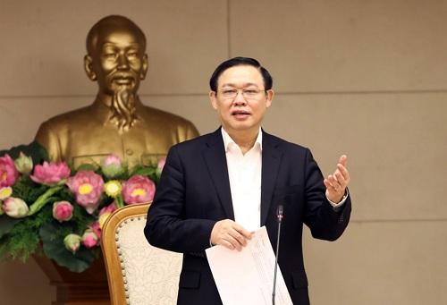 Phó Thủ tướng Vương Đình Huệ phát biểu tại cuộc họp - Ảnh: VGP/Thành Chung