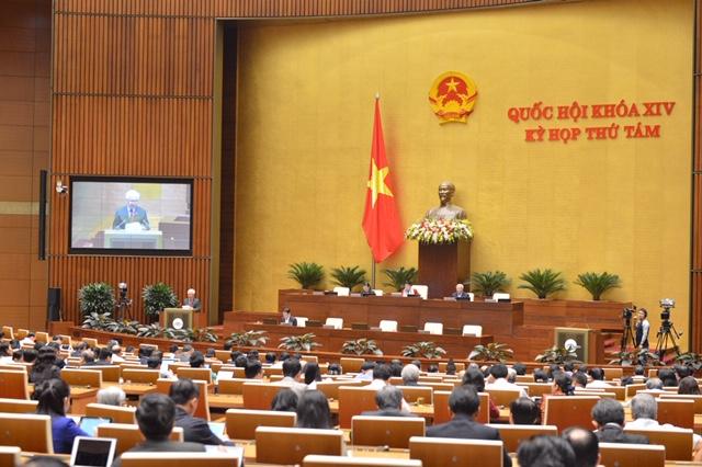 Quốc hội tiến hành miễn nhiệm Chủ nhiệm Ủy ban Pháp luật Nguyễn Khắc Định và Bộ trưởng Y tế Nguyễn Thị Kim Tiến.